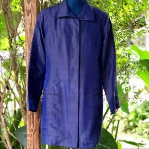 Chico's   Royal Blue Silk Duster Jacket